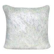 Loom and Mill Fur Decorative Throw Pillow; White