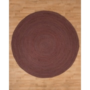 Natural Area Rugs Beijing Jute Hand Woven Natural Area Rug; Round 8'