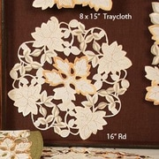Xia Home Fashions Autumn Forest Cutwork Embroidered Doily (Set of 4); 12'' W x 12'' D
