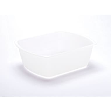 Medline Rectangle Plastic Washbasins, Clear, 8 qt, 50/Pack