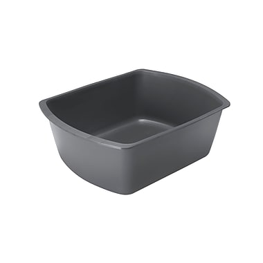 Medline Rectangle Plastic Washbasins, Graphite, 4 1/4