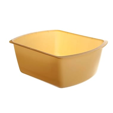 Medline Rectangle Plastic Washbasins, Gold, 4 1/4