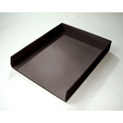 Bindertek Bright Wood Desk Organizing System Letter Tray, Black (BTLTRAY-BK)
