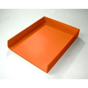 Bindertek Bright Wood Desk Organizing System Letter Tray, Orange (BTLTRAY-OR)