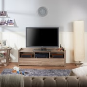 Hokku Designs Hull TV Stand; Light Oak