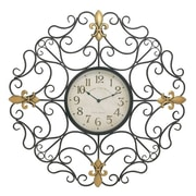 Woodland Imports Oversized 32'' Customary Styled Outdoor Scroll Wall Clock