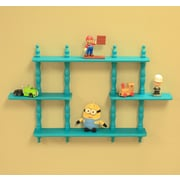 Mega Home Kid's 3 Tier Wall Shelves; Blue