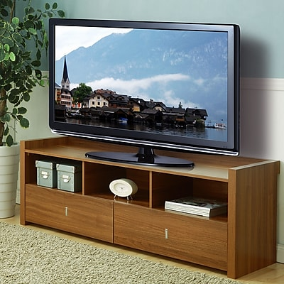 Hokku Designs Hull TV Stand; Light Walnut