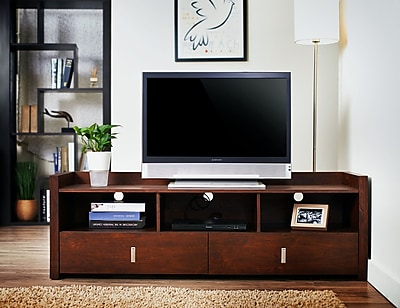 Hokku Designs Hull TV Stand; Vintage Walnut