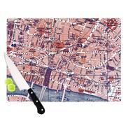 KESS InHouse City Of London by Alison Coxon Map Cutting Board; 0.5'' H x 11'' W x 7.5'' D