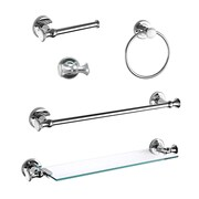 Ancona 5 Piece Bathroom Hardware Set