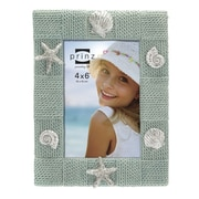 Prinz Delray Rope Resin Shell Picture Frame; Aqua
