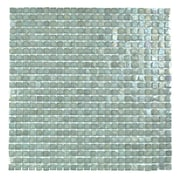 Abolos Classic Recycled 12.88'' x 12.88'' Glass Mosaic Tile in Sea Weed