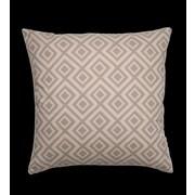 Vesper Lane Basque Designer Filled Throw Pillow; Gray