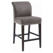 Sunpan Modern 5West 26'' Bar Stool with Cushion; Grey