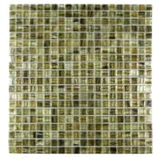 Abolos Honey Berries 0.63'' x 0.63'' Glass Mosaic Tile in Pearl Coral