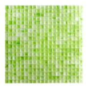 Abolos Honey Berries 0.63'' x 0.63'' Glass Mosaic Tile in Pastel Green Matte