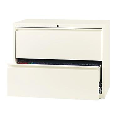 Hirsh – Classeur latéral à 2 tiroirs, largeur de 36 po, blanc nuage