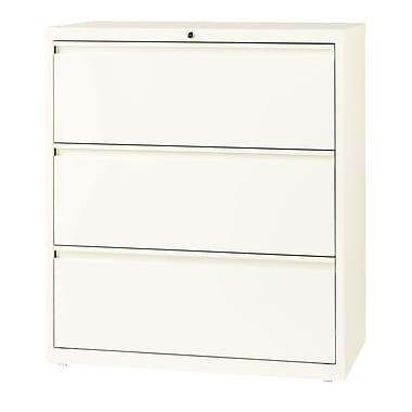 Hirsh – Classeur latéral à 3 tiroirs, largeur de 36 po, blanc nuage