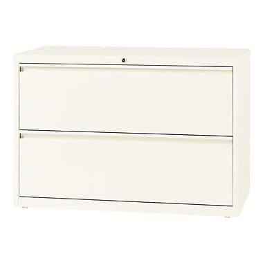 Hirsh – Classeur latéral à 2 tiroirs, largeur de 42 po, blanc nuage