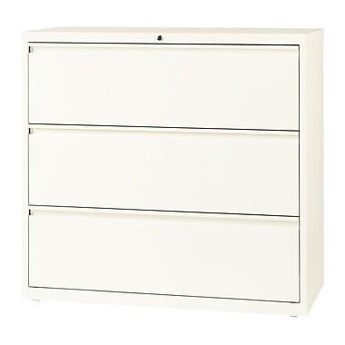 Hirsh – Classeur latéral à 3 tiroirs, largeur de 42 po, blanc nuage