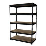 "Hirsh Iron Horse Rivet 5-Shelf, 72""H x 48""W x 24""D, Metal, Black"