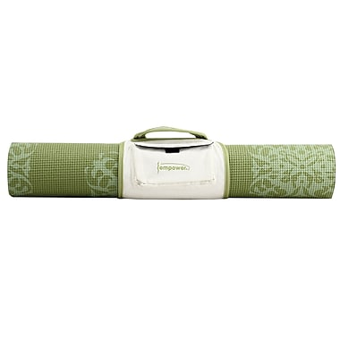 Empower Yoga Mat With Carry Strap, Floral Print, 5mm, Teal, (MP-3346R)