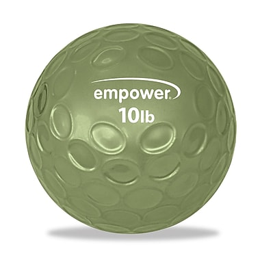Empower 10lb Fingertip Grip Medicine Ball With DVD, Green, (MP-3044R)