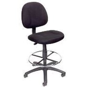 Nicer Interior Fabric Adjustable Drafting Chair with Padded Back, Charcoal, (AP515)