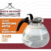 Wee's Beyond Stove Top Glass Whistling Kettle 12 Cups