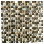 Abolos 0.63'' x 0.63'' Glass and Quartz Mosaic Tile in Di pietra