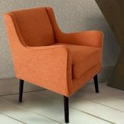 AdecoTrading Arm Chair; Orange
