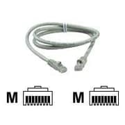 QVS® CC715-50 50' RJ45 Male/Male Cat6 Gigabit Flexible Molded Patch Cord, Gray