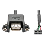 Tripp Lite Motherboard IDC to USB Type A Female/Female Panel Mount Cable, 3' (U024-003-5P-PM)
