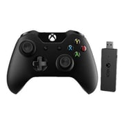 Microsoft® NG6-00001 Xbox One Controller + Adapter for Windows 10, Wireless, Black