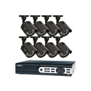 Q-See® QTH16-8Z3-2 Wired Indoor/Outdoor 16 Channel HD Security System with 8 HD 720p Cameras, Black
