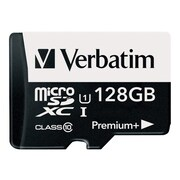 Verbatim® 99142 PremiumPlus UHS-I Class 10 128GB microSDXC Memory Card with Adapter