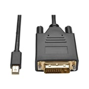 Tripp Lite Mini DisplayPort 1.2 to DVI-D Male/Male Active Adapter Cable, 3', Black (P586-003-DVI-V2)