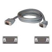 C2G® Premium 35006 25' HD-15 SVGA Male/Male Monitor Cable with 45 deg Angled Connector, Gray