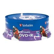 Verbatim Inkjet/Hub Printable Recordable Disc, 4.7GB, AZO DVD+R, 25 Pack Spindle