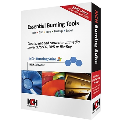 NCH Software Software Essential Burning Tools Software, Windows, CD-ROM (RET-BSW001) IM1LK5341