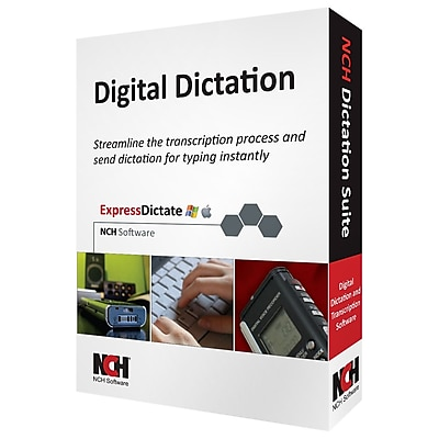 NCH Software Digital Dictation Transcription Management Software Suite Windows Mac RET DIC001