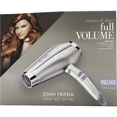 Conair John Frieda 1875 W Full Volume Ionic Hair Dryer, Silver (JF1R)