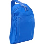 "Women in Business Miami City Blue Polyester/Microsuede Slim Backpack For 14"" Laptop"