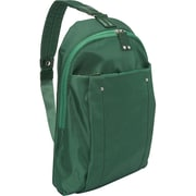 "Women in Business Miami City Green Polyester/Microsuede Slim Backpack For 14"" Laptop"
