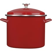 Cuisinart® Chef's Classic™ Enamel on Steel Stock Pot with Cover, 12 qt, Red (EOS126-28)