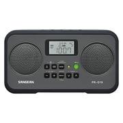 Sangean PR-D19 1.4 W AM/FM Digital Clock Radio, Black/Gray