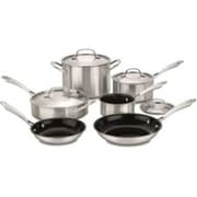 Cuisinart® GreenGourmet™ 10 Piece Stainless Steel Cookware Set, Silver