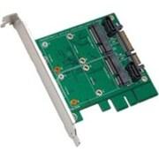 """Syba™ SY-ADA40101 3 1/2"""" SATAIII to Dual mSATA RAID Adapter"""