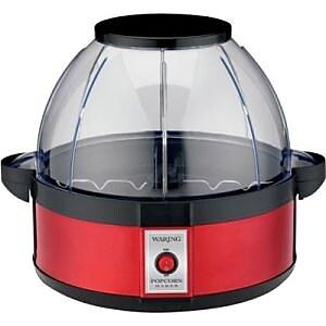 Waring Pro 20 Cup Popcorn Maker, Black/Red (WPM10) IM1KV7793